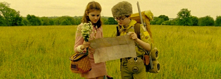Kara Hayward (Suzy) e Jared Gilman (Sam) in una scena del film